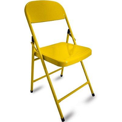 Cadeira Dobrável Happy Hour - Amarela