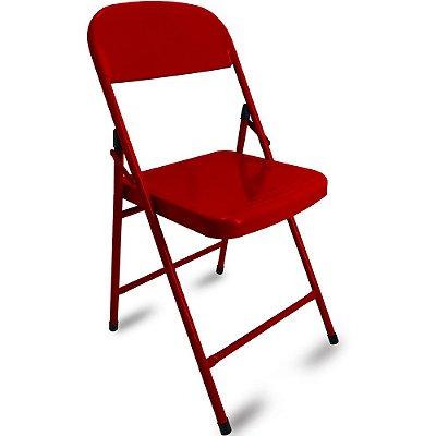 Cadeira Dobrável Happy Hour - Vermelho