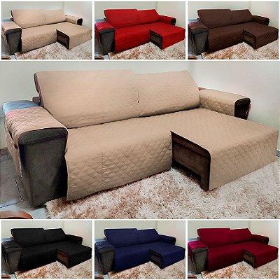Protetor de Sofá Retrátil e Reclinável em Microfibra para Assento de 1,80m