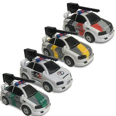 Kit 4 Carrinhos Da Polícia Viatura Brinquedo Infantil