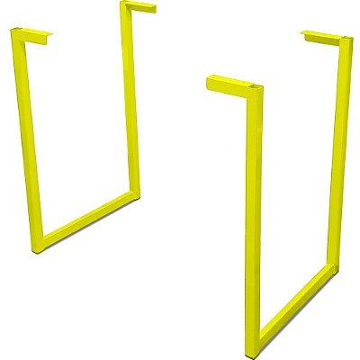 Base de Mesa Nova York para Tampos de Madeira até 140cm x 60cm - Amarela