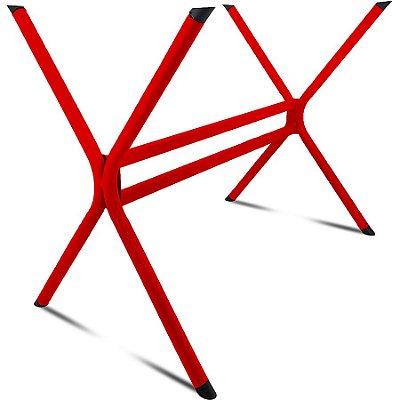 Base de Mesa de Jantar Retangular Escócia 140 x 80 - Vermelha