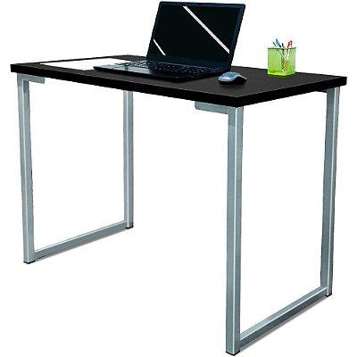 Mesa para Escritório Escrivaninha Estilo Industrial Nova York Mdf 120cm - Prata e Preto