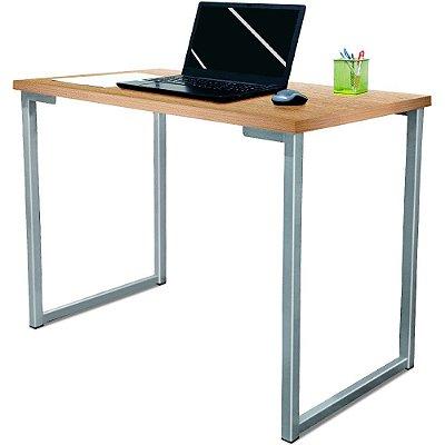 Mesa para Escritório Escrivaninha Estilo Industrial Nova York Mdf 120cm - Prata e Jade
