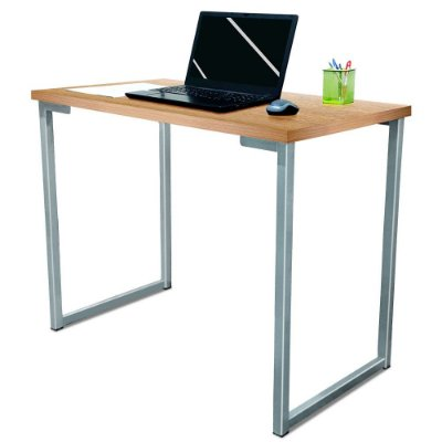 Mesa para Escritório Escrivaninha Estilo Industrial Nova York Mdf 100cm - Prata e Jade