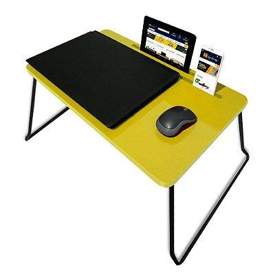 Suporte Mesa Multiuso Classic para Notebook Dobrável Amarelo