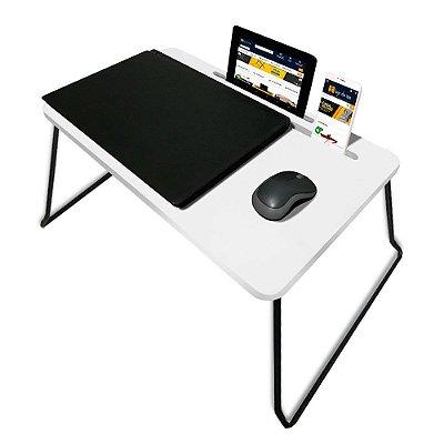 Suporte Mesa Multiuso Classic para Notebook Dobrável Branco
