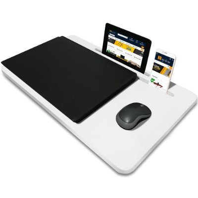 Suporte Mesa para Notebook Slim Tablet Celular para usar na Cama 56cm x 33cm Branco