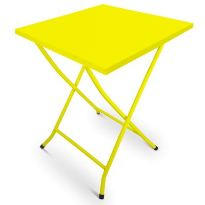 Mesa de Ferro Dobrável Happy Hour Amarelo