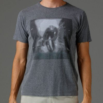 CAMISETA BÁSICA CINZA SPLASH GRAY