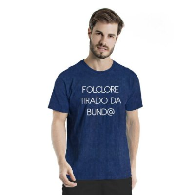 Camiseta Estonada Folclore Marinho Sky
