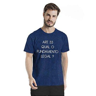 Camiseta Estonada Artigo 33 Marinho Sky