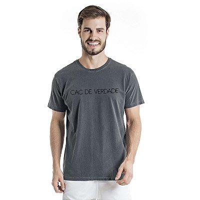 Camiseta Estonada CAC de Verdade Chumbo