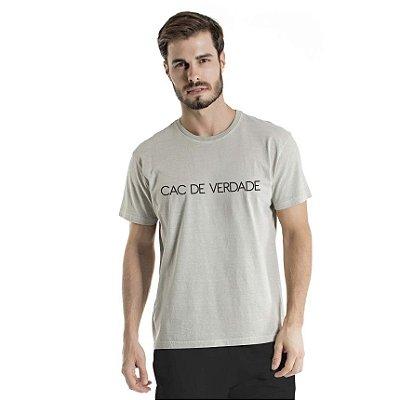 Camiseta Estonada CAC de Verdade Cinza