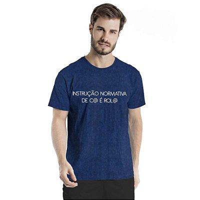 Camiseta Estonada Instrução Normativa Marinho Sky