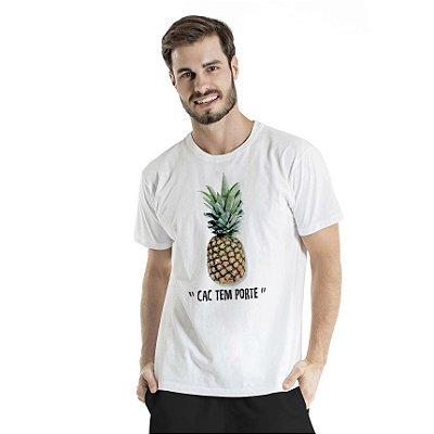 Camiseta Estonada CAC Abacaxi Branca