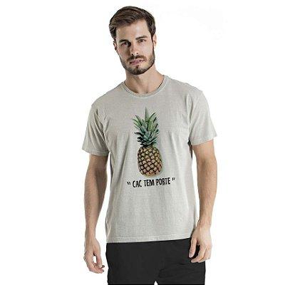Camiseta Estonada CAC Abacaxi Cinza
