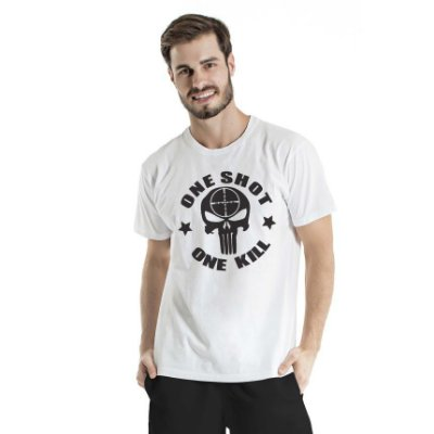 Camiseta Estonada One Shot Branca