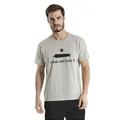 Camiseta Estonada Come And Take It Cinza