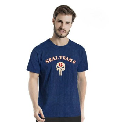 Camiseta Estonada Seal Team 6 Marinho Sky