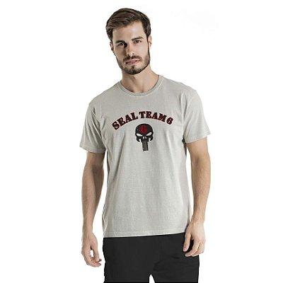 Camiseta Estonada Seal Team 6 Cinza