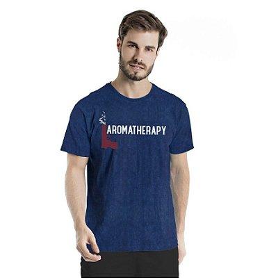 Camiseta Estonada Aromatherapy Marinho Sky