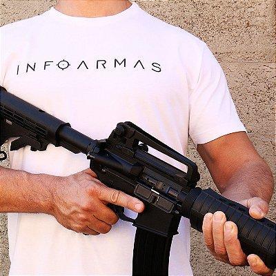 Camiseta Estonada InfoArmas Branca