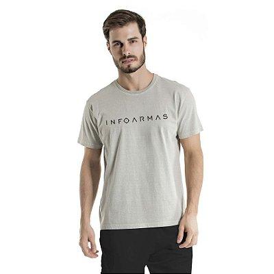Camiseta Estonada InfoArmas Cinza