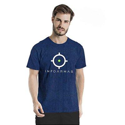 Camiseta Estonada Infoarmas Alvo Marinho Sky