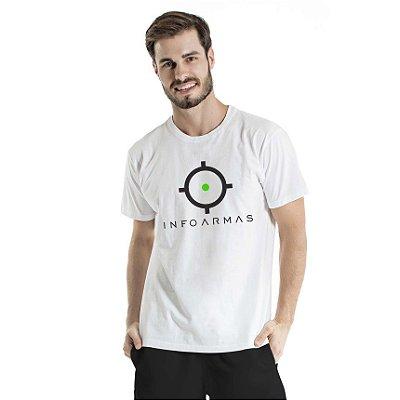 Camiseta Estonada Infoarmas Alvo Branca