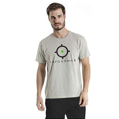 Camiseta Estonada Infoarmas Alvo Cinza