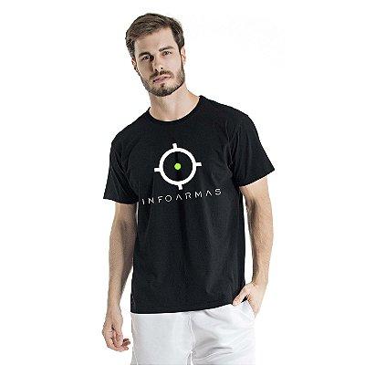 Camiseta Estonada Infoarmas Alvo Preta