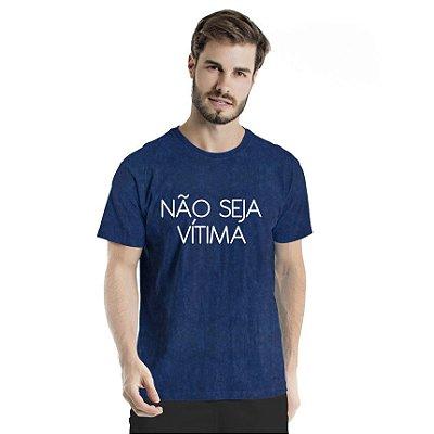 Camiseta Estonada Não Seja Marinho Sky