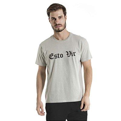 Camiseta Estonada Esto Vir Cinza