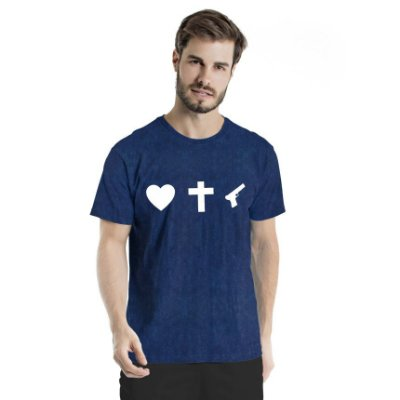 Camiseta Estonada Love Marinho Sky