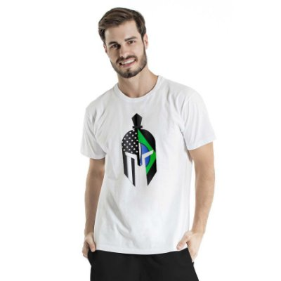 Camiseta Estonada Green Gladiator Mask Branca