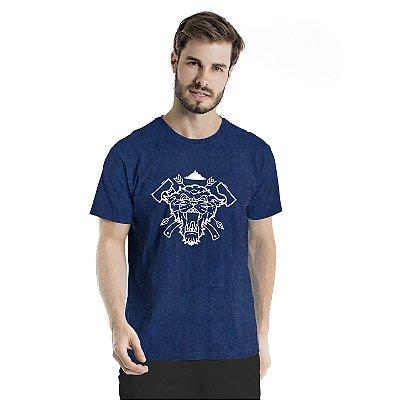 Camiseta Estonada Sobrevivência em Mata Marinho Sky