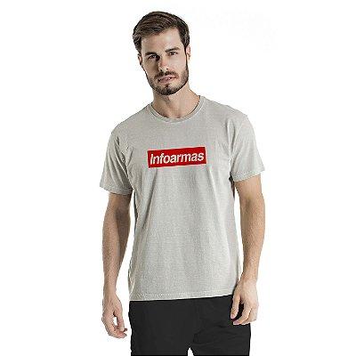 Camiseta Estonada Infoarmas por Esperandio Tactical Concept Cinza