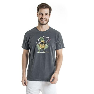 Camiseta Estonada Pineapple Chumbo