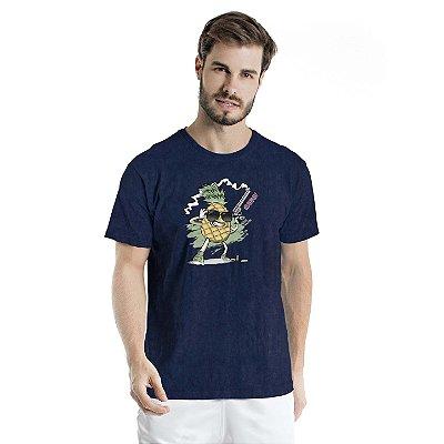 Camiseta Estonada Pineapple Marinho Sky