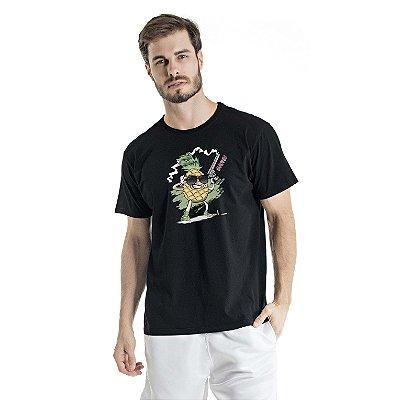 Camiseta Estonada Pineapple Atirador Preta