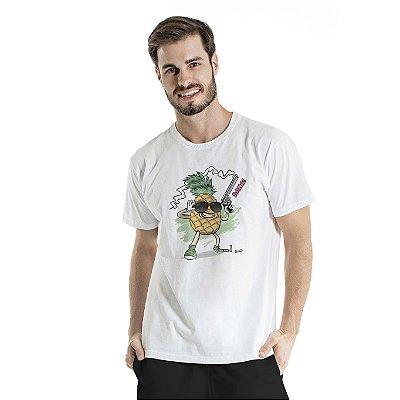 Camiseta Estonada Pineapple Cac de Verdade Branca