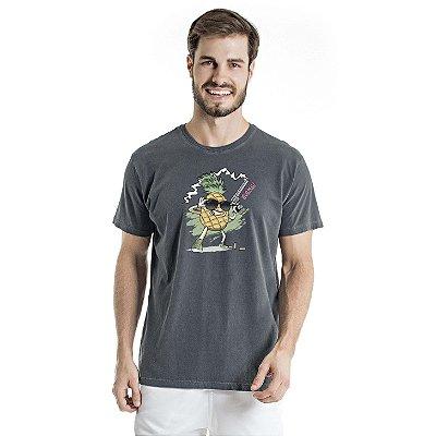 Camiseta Estonada Pineapple Cac de Verdade Chumbo