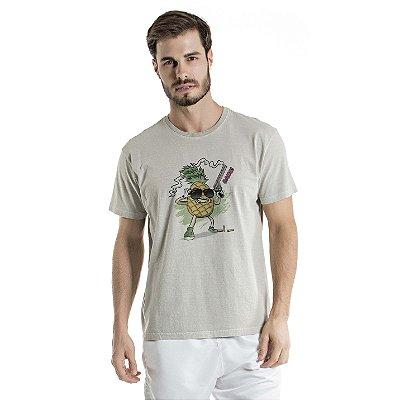Camiseta Estonada Pineapple Cac de Verdade Cinza