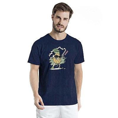 Camiseta Estonada Pineapple Cac de Verdade Marinho Sky
