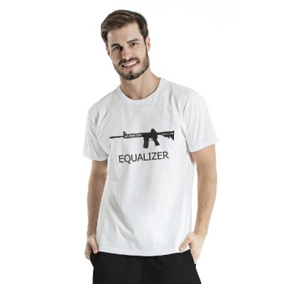Camiseta Estonada Equalizer Branca