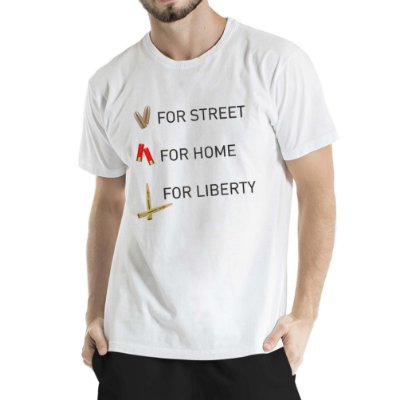 Camisa Estonada For Liberty Branca