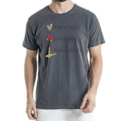 Camisa Estonada For Liberty Chumbo