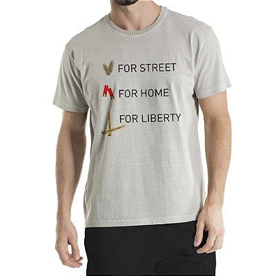 Camisa Estonada For Liberty Cinza