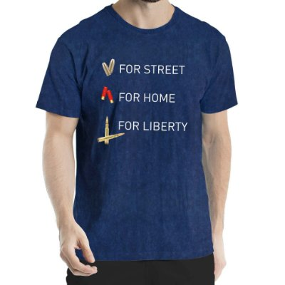 Camisa Estonada For Liberty Sky Marinho